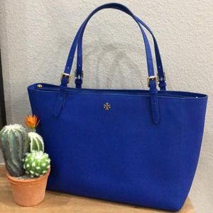 Tory Burch Large York Buckle Tote Nautical Beach